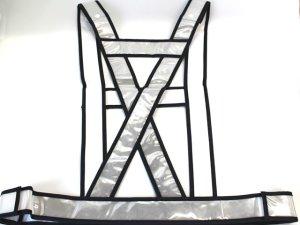 画像4: 夜光タスキ サイズ調整 発光帯 シルバー