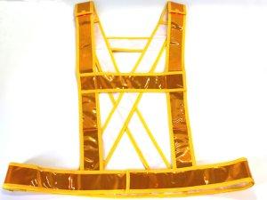 画像1: 夜光タスキ サイズ調整 発光帯 黄