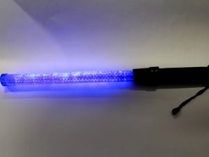 画像2: 青色 信号灯・誘導灯 明るい!! 56cm(点滅・点灯切り替え式) LED12灯