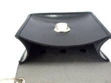 他の写真3: キーケース クラリーノ 留め金具付 黒  11x10cm