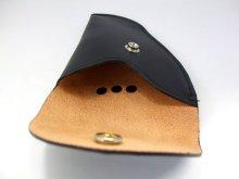他の写真3: 小物入れ 黒 牛皮製 12x15cm