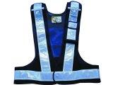 多機能安全ベスト(収納ポケット付き) 夜光チョッキ6cm幅 紺メッシュ・シルバー反射
