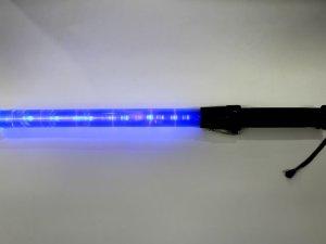 画像2: 青色 信号灯・誘導灯 54cm(点滅・点灯切り替え式)フック付き LED6灯