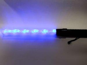 画像3: 誘導灯・信号灯 55cm 赤・青 2色切り替え式 フック付き