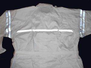 画像4: 警備 雨合羽  ロングコート式(ズボンなし) 背抜きメッシュ付 特大サイズ 6L〜8Lサイズ