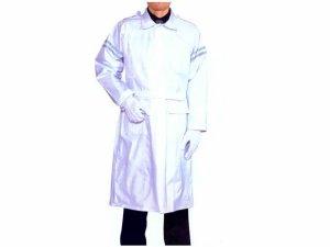 画像1: 警備 雨合羽  ロングコート式(ズボンなし) 背抜きメッシュ付 特大サイズ 6L〜8Lサイズ