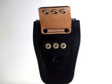 他の写真1: キーケース 黒 黒皮製 14.5cmx10cmx6cm 台形型