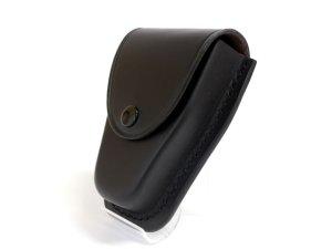 画像2: キーケース 黒 黒皮製 14.5cmx10cmx6cm 台形型