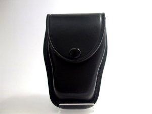 画像1: キーケース 黒 黒皮製 14.5cmx10cmx6cm 台形型
