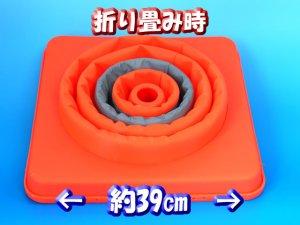 画像2: 伸縮式三角コーン 62cm オレンジ/イエロー