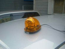 他の写真2: 【モーターレス】 車載回転灯 警備・保安用 ハイパワーLED回転・点滅灯 12V 24V兼用