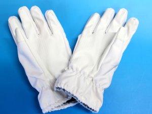 画像2: 防水防寒 白手袋 夜光付