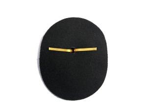 画像2: 帽章 金モール たまご型