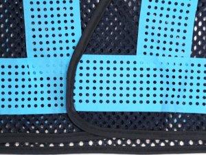 画像3: エアスルー安全ベスト ブルーメッシュxブルー反射