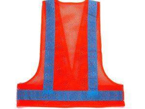 画像2: エアスルー安全ベスト オレンジメッシュxブルー反射