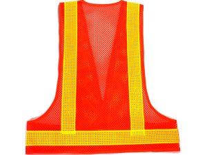画像2: エアスルー安全ベスト オレンジメッシュxイエロー反射