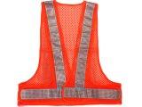 エアスルー安全ベスト オレンジメッシュxシルバー反射