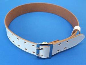 画像2: 一枚革帯革(たいかく) 50mm幅 白・黒 2ピン式