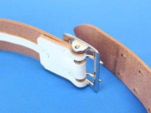画像3: 一枚革帯革(たいかく) 50mm幅 白・黒 2ピン式
