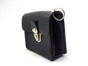 画像4: キーケース クラリーノ 留め金具付 黒  11x10cm