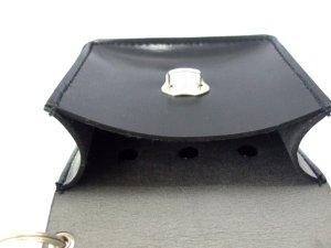 画像5: キーケース クラリーノ 留め金具付 黒  11x10cm