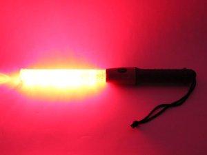 画像3: 誘導灯・信号灯 マークNS ハーフ 43cm 赤色点滅 太いタイプ