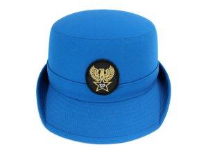 画像3: 女子ハイバック帽 ブルー 帽章付き