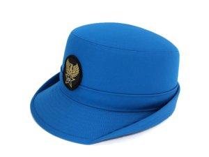画像1: 女子ハイバック帽 ブルー 帽章付き