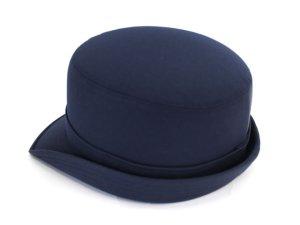画像2: 女子ハイバック帽 紺  帽章付き