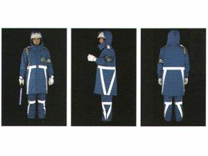 画像2: 警備 防水防寒ロングコート(反射テープ付)