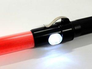 画像2: 誘導灯・信号灯 【電子ホイッスル付き】 58cm 赤色点滅 点灯切替 手元白色LED2個付き