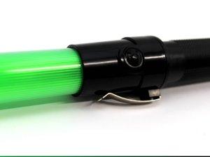 画像2: 緑色 信号灯・誘導灯 グリーン54cm(点滅・点灯切り替え式)フック付き