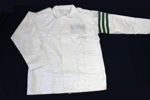 画像1: 警備 雨合羽 上衣 ズボン付 背抜きメッシュ 特大サイズ(6L〜8L)