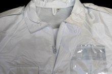 他の写真1: 警備 雨合羽 上衣 ズボン付【夜光付】背抜きメッシュ 上着とズボンに反射材付き
