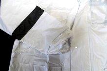 他の写真2: 警備 雨合羽 上衣 ズボン付【夜光付】背抜きメッシュ 上着とズボンに反射材付き