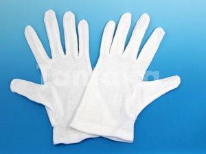 画像1: 綿白手袋 スムス
