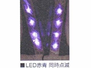 画像4: LED 36個使用 発光色2色切り替えLEDベスト  オレンジxシルバー反射(赤/青LED切り替え)