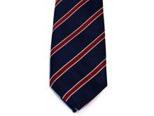他の写真1: ネクタイ ストライプ 紺/赤ライン細いタイプ