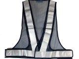 【冬でも割れない】 夜光チョッキ・安全ベストNK-II 5cm幅 紺メッシュ・グレー反射 【日本製】