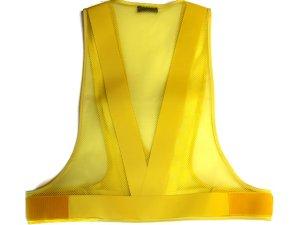 画像2: 【冬でも割れない】 夜光チョッキ・安全ベストNK-III 5cm幅 黄メッシュ・黄反射 【日本製】