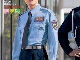 夏 警備用 長袖シャツ 水色
