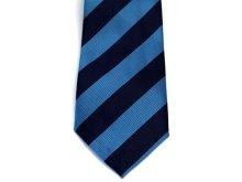 他の写真1: ネクタイ ストライプ 青/水色ライン太いタイプ