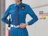 警備用 女子用夏長袖ブラウス ブルー