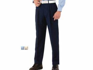 画像1: 警備用 夏アジャスターパンツ 濃紺