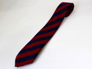 画像2: ネクタイ ストライプ 紺/赤ライン太いタイプ