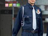 冬 警備用 長袖男女ペアシャツ 濃紺