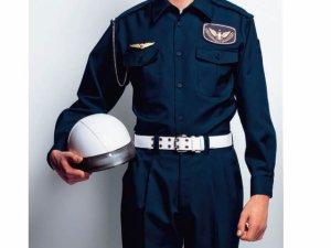 画像1: 冬 警備用 長袖シャツ 紺