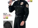 冬 警備用 長袖シャツ 黒 反射パイピング仕様
