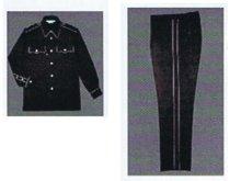 他の写真1: 警備用 冬アジャスターパンツ 黒 反射パイピング付き