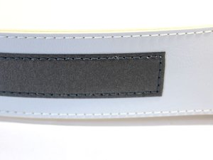 画像3: 交通指導員 白ベルト「反射付き」2本ピン 40mm幅
